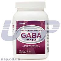 GNC GABA 750 mg Гамма-аминомасляная кислота для выработки гормона роста