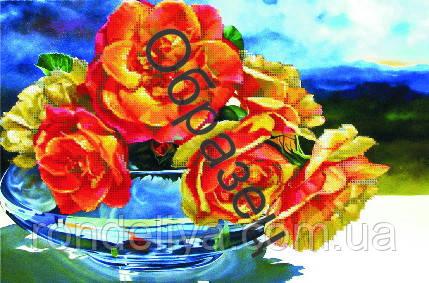 Схема для вишивки бісером «Троянда у склі»