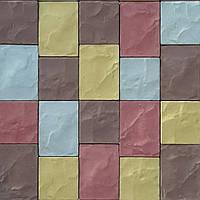 "Тротуарная плитка ""Брук-Вест"" 15х14х4 см.19,5х14х4 см. Цвет: Крас, Кор, Жёлтый, Серый, Персик."