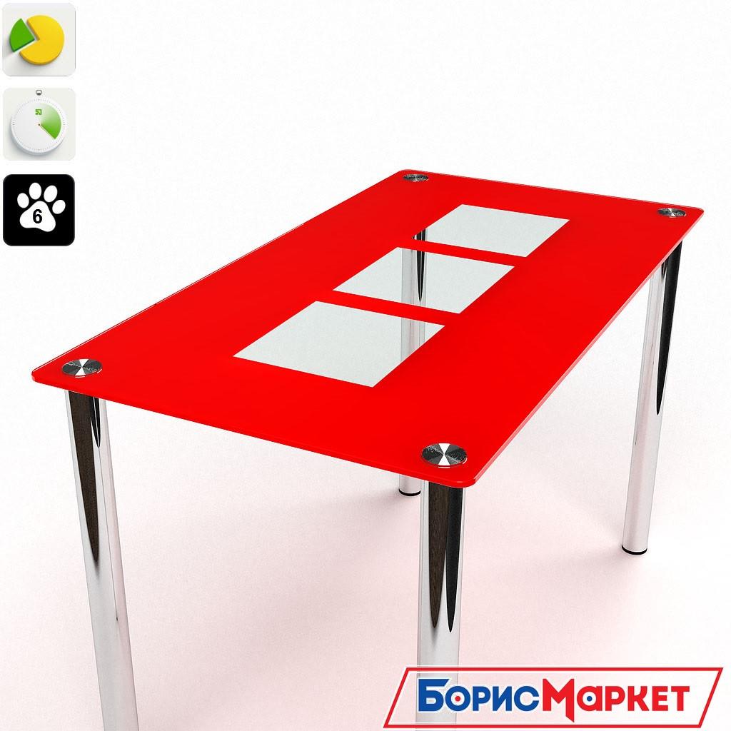 Обеденный стол стеклянный прямоугольный Малевич от БЦ-Стол