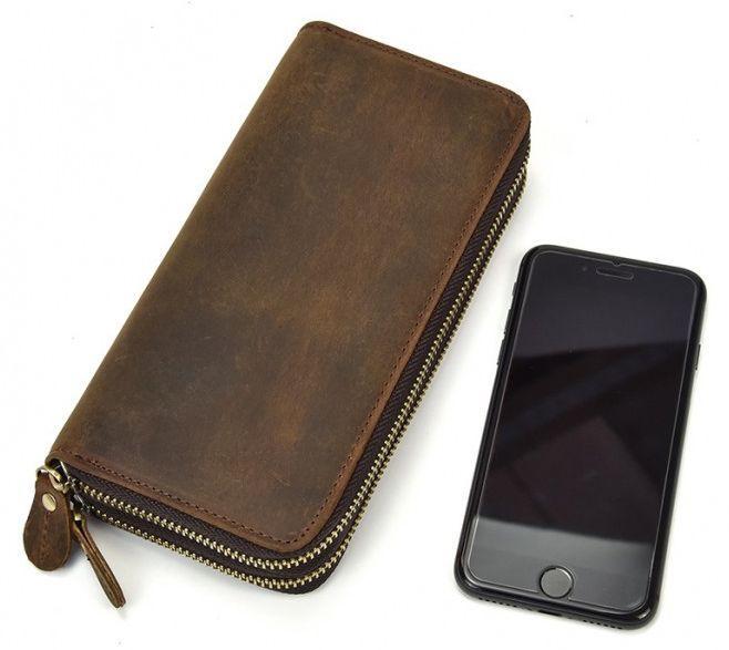 d0c5462aaa56 Мужской клатч кожаный TIDING BAG T4009R, коричневый — только ...