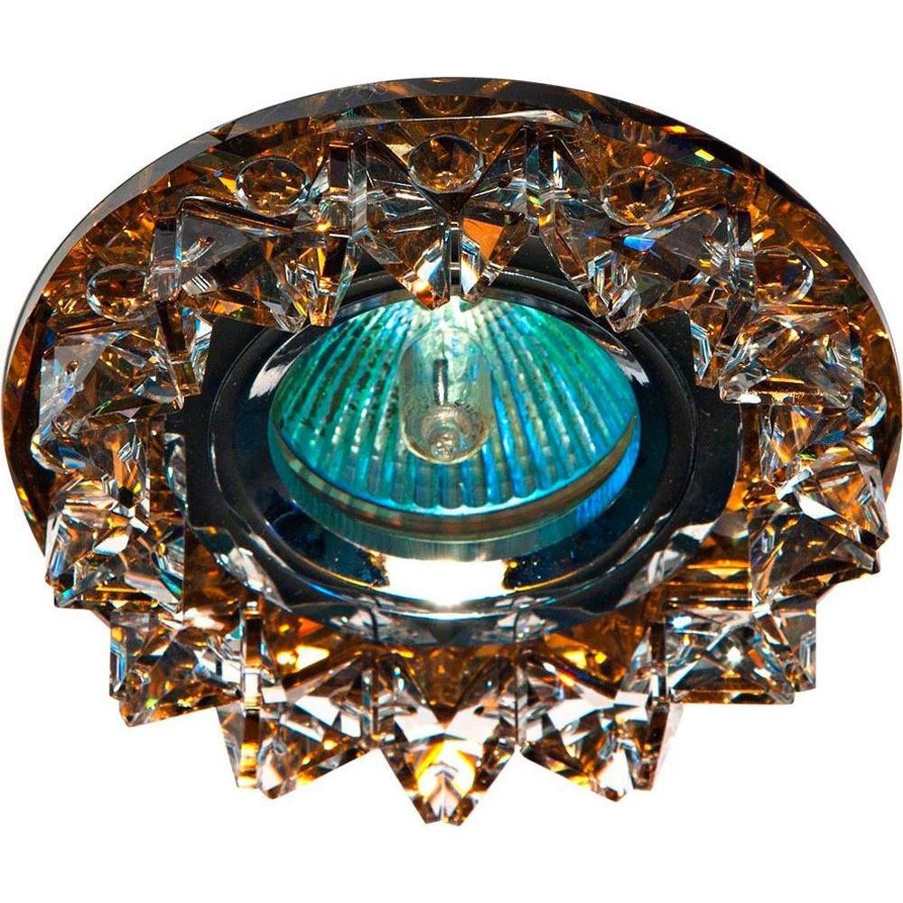 Точечный встраиваемый светильник Feron CD2542 прозрачный+чайный