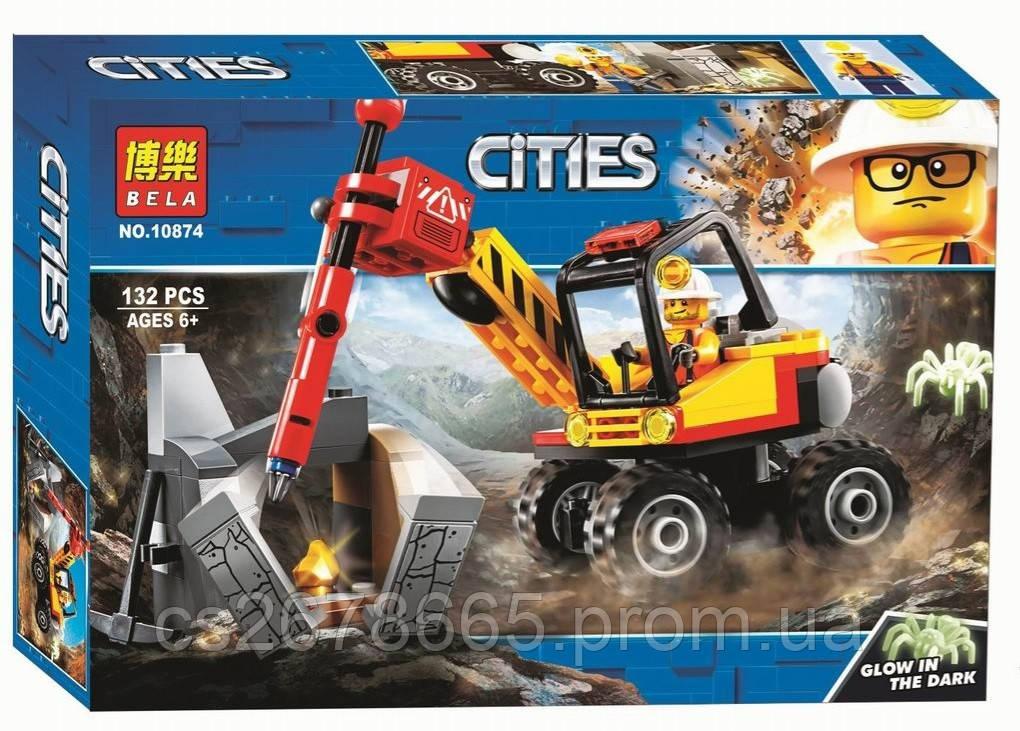 Конструктор CITIES 10874 (аналог Lego City 60185) «Мощный горный разделитель» 132 дет.