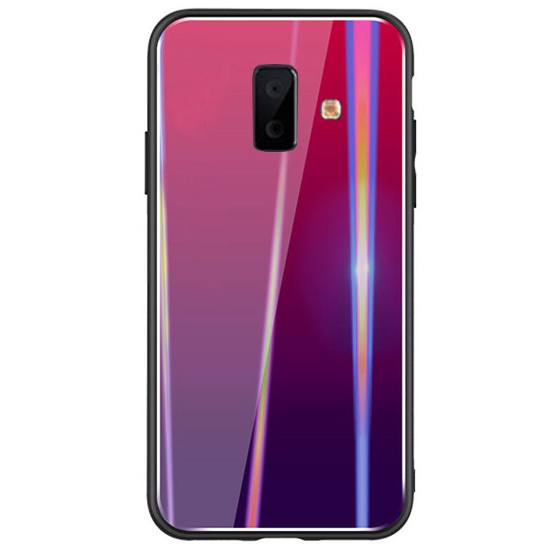 TPU+Glass чехол Gradient Aurora для Samsung Galaxy J6+ (2018)