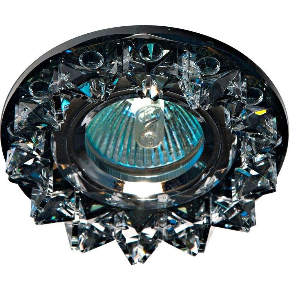 Точечный встраиваемый светильник Feron CD2542 прозрачный+серый