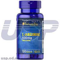 Puritan's Pride L-Arginine 500 mg л-аргинин улучшение кровообращения нормализация давления для роста