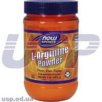 NOW L-Arginine Powder л-аргинин улучшение кровообращения нормализация давление от головной боли для роста