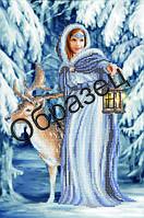Схема для вышивки бисером «Дева зимнего леса»