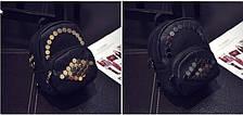 Стильный мини-рюкзак с  заклепками сотами, фото 2
