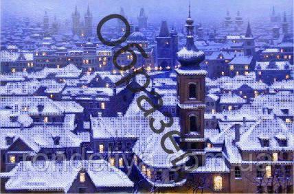 Схема для вишивки бісером «Зимовий вечір»