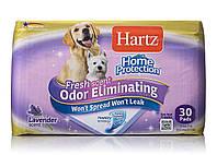 Hartz Odor Eliminating Dog Pads - впитывающие пеленки для щенков и собак с ароматом лаванды, 30 шт.