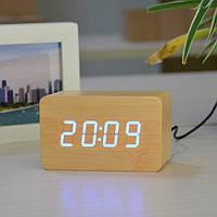 Настольные электронные часы с подсветкой VST 863-5 квадратные коричневый d35c274a9a86f
