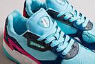 """Женские кроссовки adidas Falcon """"Clear Mint/Collegiate Navy"""" Адидас Фалкон голубые, фото 3"""