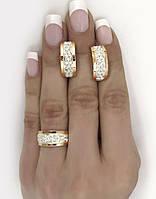 Серебряный набор с золотыми накладками