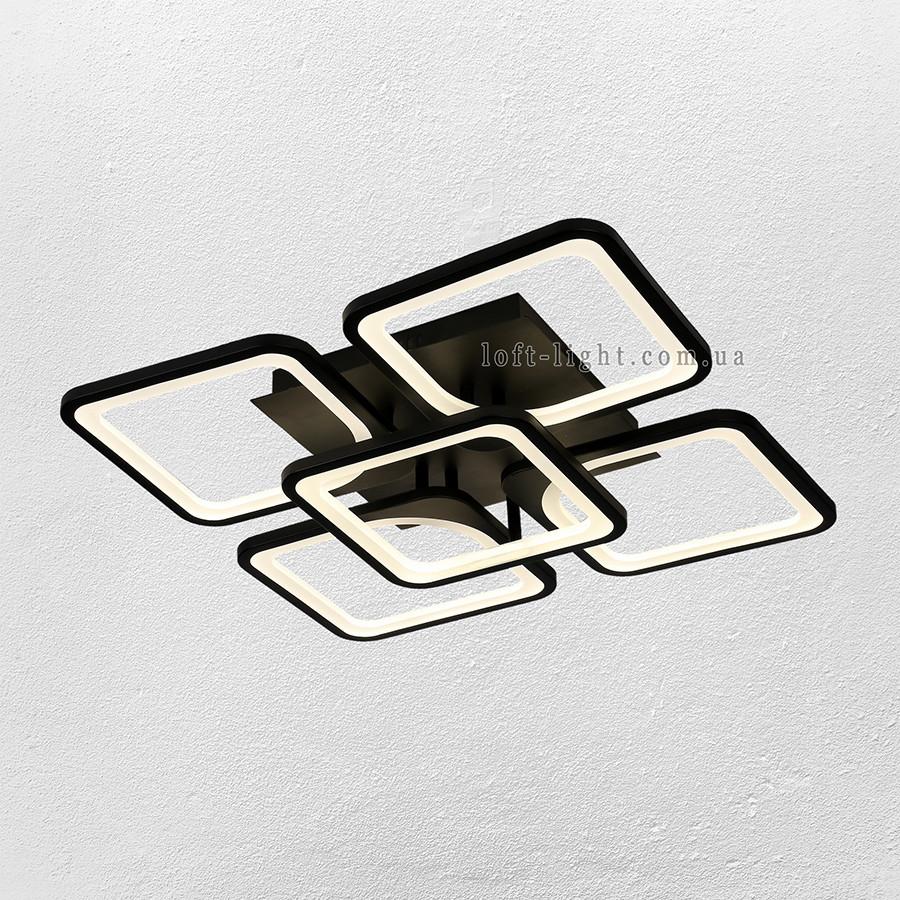 Люстра потолочная светодиодная  (модель  55-MX10005-4+1 BK )