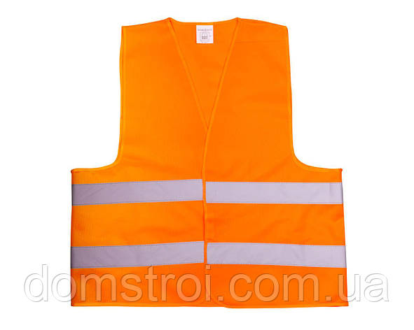 Жилет со светоотр. лентой Китай (цвет оранж) состав polyester 100% размер 4XL плотность ткани 80г/м2, фото 2