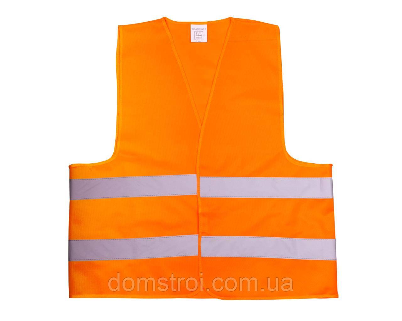 Жилет со светоотр. лентой Китай (цвет оранж) состав polyester 100% размер 4XL плотность ткани 80г/м2