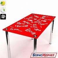 Обеденный стол стеклянный прямоугольный Мия от БЦ-Стол