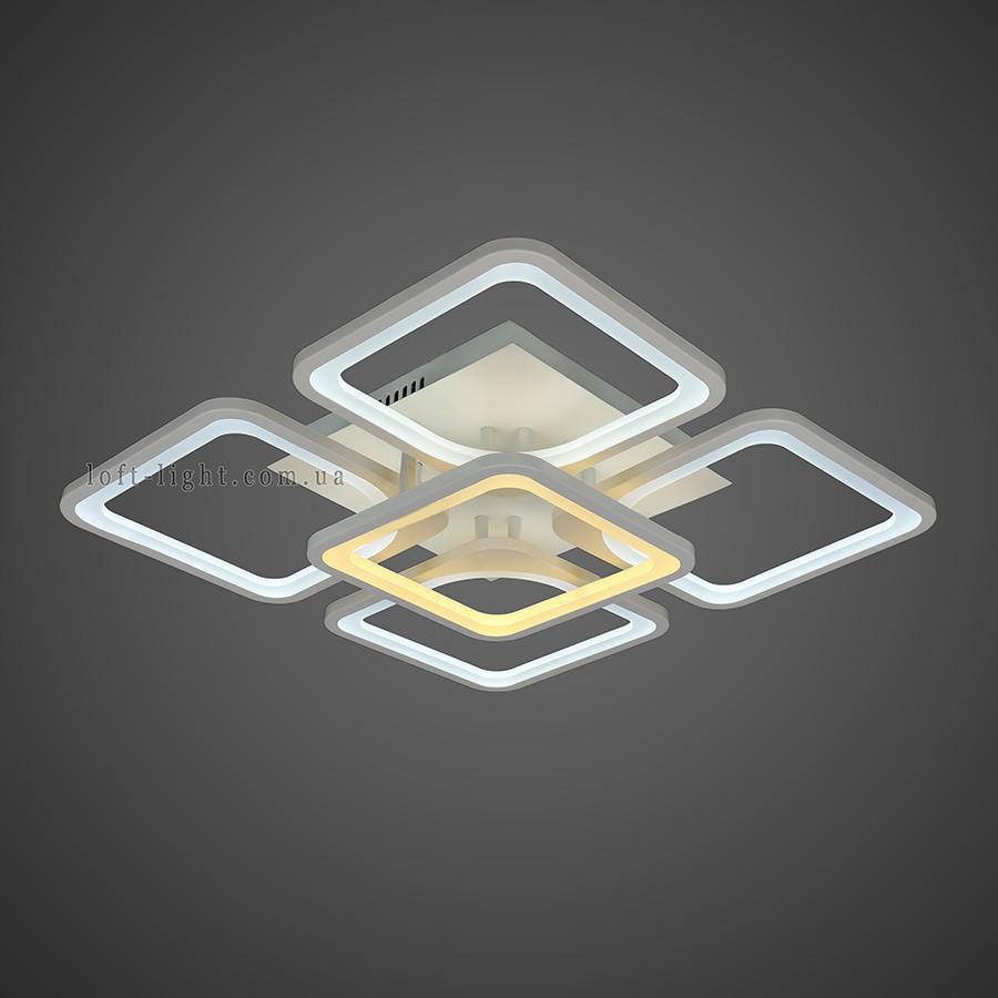 Люстра потолочная светодиодная  (модель  55-MX10005-4+1 WH )