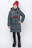 Зимняя куртка для девочки «ZKD-9» изумруд