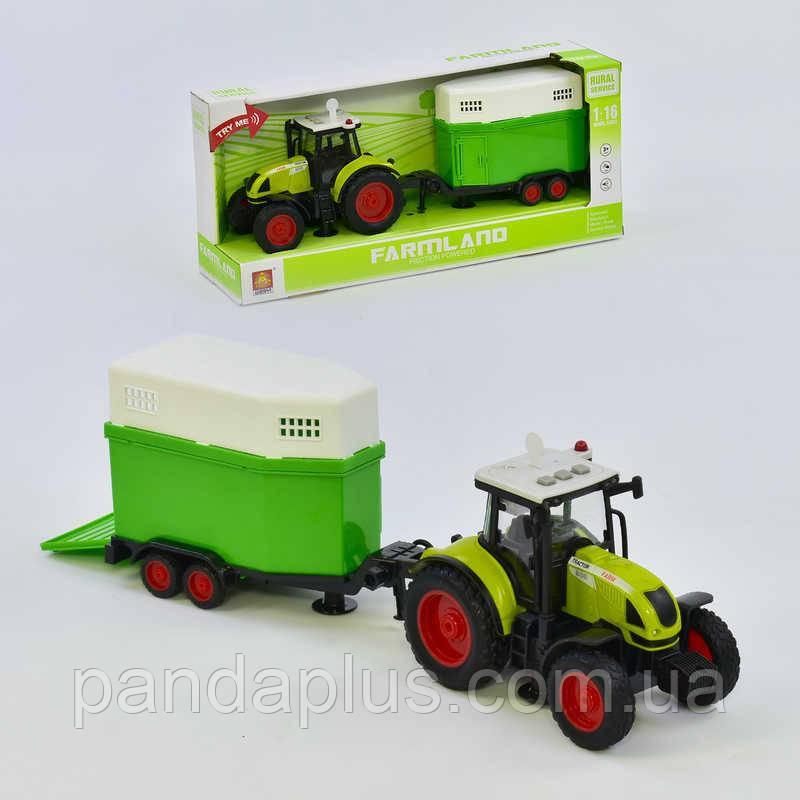 Трактор с прицепом WY 900 J (18) инерция, звук, свет, в коробке