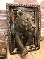 Картина объемная керамическая Волк Вожак стаи