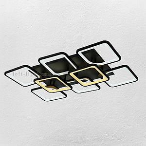 Люстра потолочная светодиодная  (модель  55-MX10005-6+2 BK )