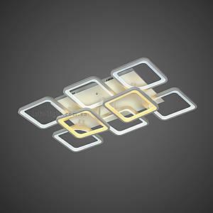 Люстра потолочная светодиодная  (модель  55-MX10005-6+2 WH )