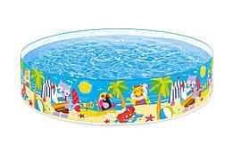 Бассейн детский каркасный Intex «Пляжные друзья» 58457 (244*46 см)