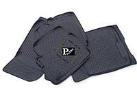 Резиновые 3D коврики L.Locker Peugeot 207 (2006-2009) - Ковры в салон Пежо 207