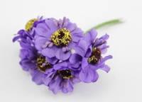 Маки искусственные  (в одном букете 6 шт.) фиолетовые
