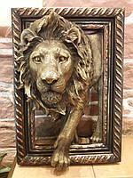 Картина объемная керамическая Лев Царь зверей