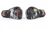 Рукавиці боксерські FLEX на липучці BAD BOY SPIDER VL-6602 (р-р 10-12oz), фото 1