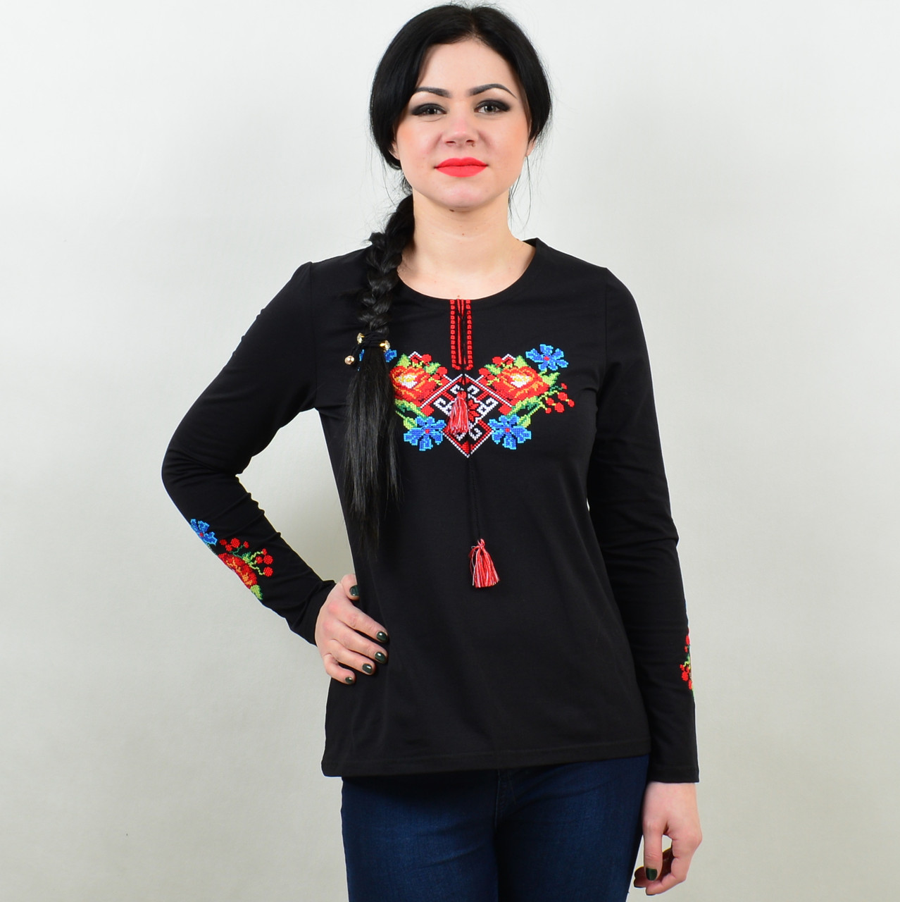 Трикотажная футболка вышиванка