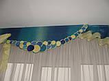 Жорсткий ламбрекен Смайл синій з жовтим, фото 2