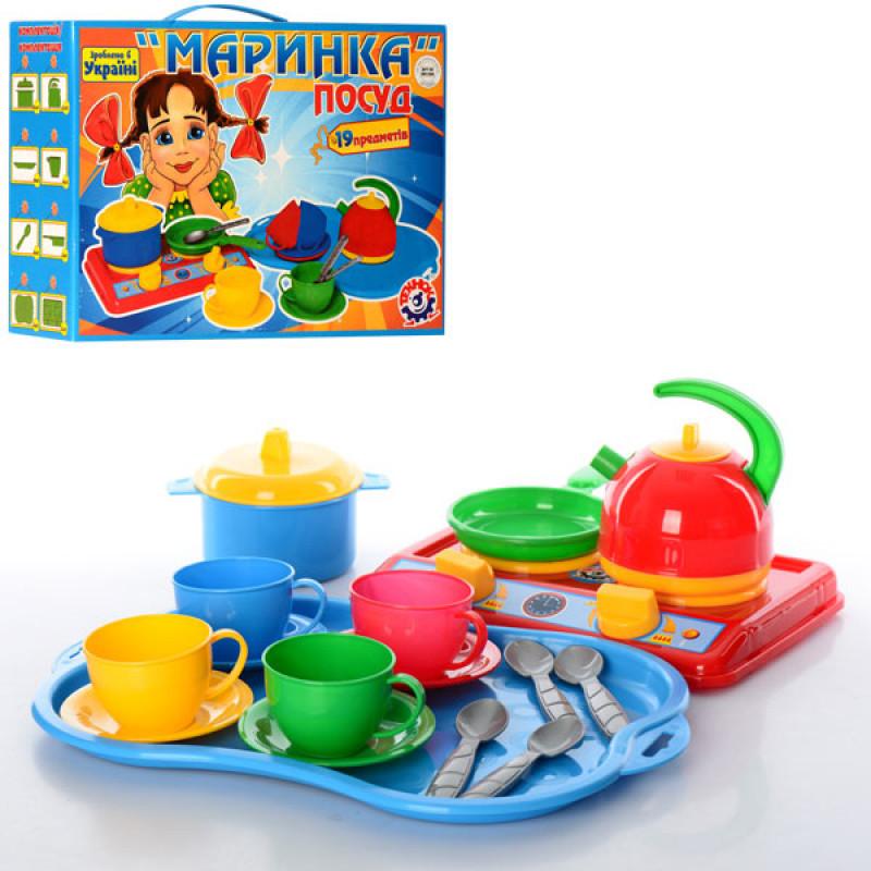 """Набор посуды """"Маринка"""" в коробке 33×23.5×10.5 см ТехноК"""