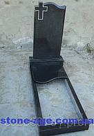 Памятник из гранита одиночный волна и крест с художественной работой