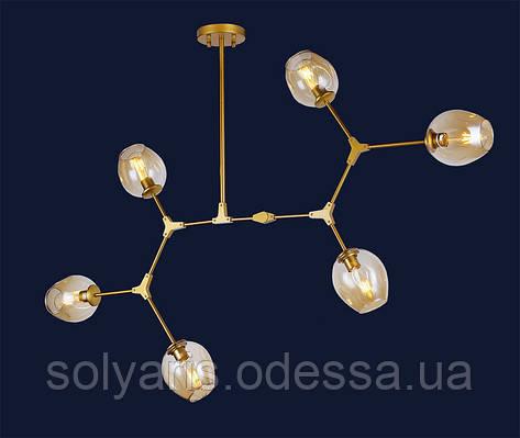 Люстра молекула 756LPR0231-6 GD+BK