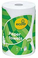 """Бумажные полотенца """"Ecolo"""", 120 отрывов, 2 слоя, 1шт"""
