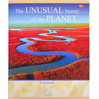 Тетрадь цветная 96 листов, клетка «Необычная красота нашей планеты»              8 штук        2651к, фото 2