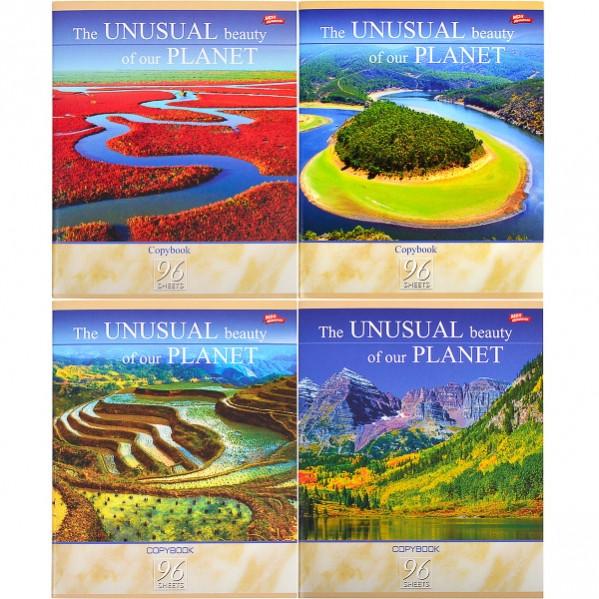Тетрадь цветная 96 листов, клетка «Необычная красота нашей планеты»              8 штук        2651к