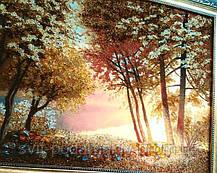 """Картина """"Солнце в лесу"""", красивый пейзаж из янтаря, фото 3"""