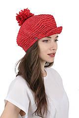 Кепка женская с мягким козырьком красный