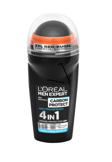 Дезодорант антиперспірант кульковий L'Oreal Men Expert Carbon Protect 50мл. оригінал