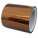 Термоскотч каптон Kapton 60мк. 200мм x 33м каптоновый скотч термостойкий высокотемпературный Koptan, фото 2