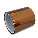 Термоскотч каптон Kapton 60мк. 200мм x 33м каптоновый скотч термостойкий высокотемпературный Koptan, фото 3