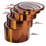 Термоскотч каптон Kapton 60мк. 200мм x 33м каптоновый скотч термостойкий высокотемпературный Koptan, фото 7