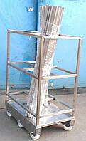 Тележка для перевозки коптильных палок (вешал), фото 1