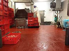 Покриття підлоги для м'ясокмбінатів 6 мм. STONCLAD UT.  Пол для мясокомбината.