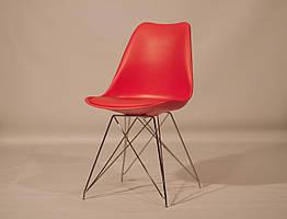 Стул пластиковый в современном стиле Milan Chrom ML для баров, кафе, ресторанов, стильных квартир красный